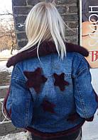 Парка. Джинсовая куртка  с мехом норки
