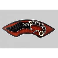 Нож панно Скорпион Grand Way 029-A сталь клинка 420, цвет рукоятки Золотой