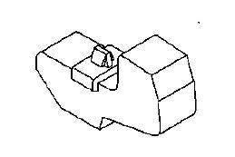 Буфер (демпфер, уплотнитель, отбойник) упор (опора) капота резиновый (губчатый) с пластмассовой защёлкой GM