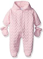 Сдельный розовый комбинезон The Children's Place (США) для девочки 3-6мес, фото 1