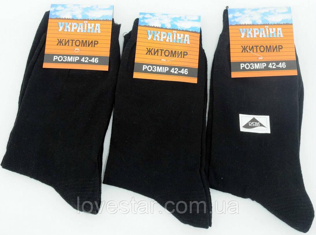 Носки мужские стрейч Житомир Украина размер (42-46) черные