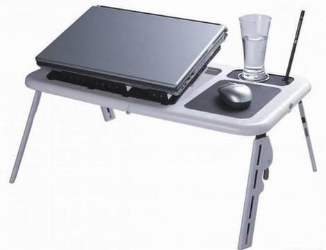 Универсальный складной столик E-Table с охлаждением ноутбука