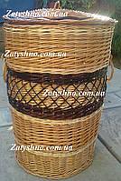 Сундук бочка плетеная из лозы