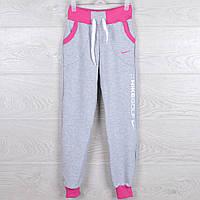 """Спортивные штаны детские """"NikeGolf"""". 6-10 лет. Серые+розовый. Оптом"""