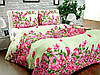 Бязь Gold Розовые цветы на кремовом1006-1