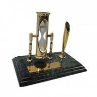 """Настольный набор руководителя """"Песочные часы"""" на мраморной подставке 6138"""