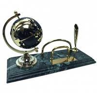 """Настольный набор руководителя """"Глобус"""" на мраморной подставке 8186"""