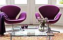 Дизайнерское мягкое кресло СВ, розовое , фото 5