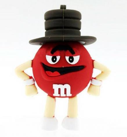Флешка «M&M's» (Эмемдемс) красный цвет