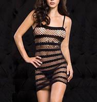 Эротическое платье полоска, сеточка №34