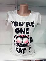 Женская футболка пр-во Турция S,M,L,XL