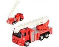 """Детская машинка металлическая """"АВТОПРОМ"""" Kinsmart, 6514 АВ камаз Пожарная служба,игрушки для мальчиков,игрушки"""