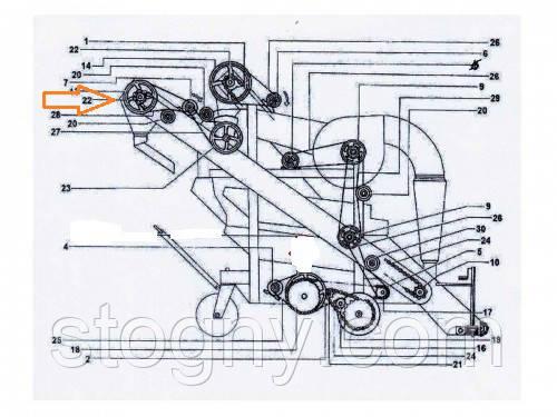 Шків вигрузного елеватора ОВІ 04.102, фото 2