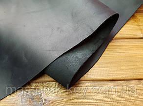 Кожа натуральная Крейзи Хорс т.1,5-1,8 мм цвет черный