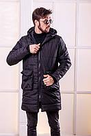 Мужская зимняя куртка на синтепоне с логотипом