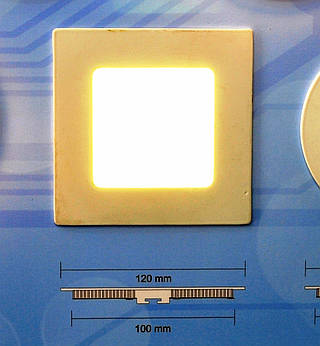 Светодиодный светильник встраиваемый Bellson квадрат (6 Вт, 120х120 мм)