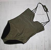 Слитный купальник с переплетом на спине ASOS, фото 1