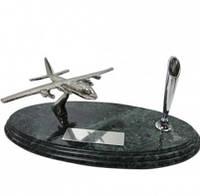 """Настольный набор руководителя """"Самолет"""" на мраморной подставке 9119"""