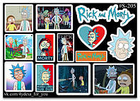 Stickers Pack Rick and Morty, Рик и Морти #205