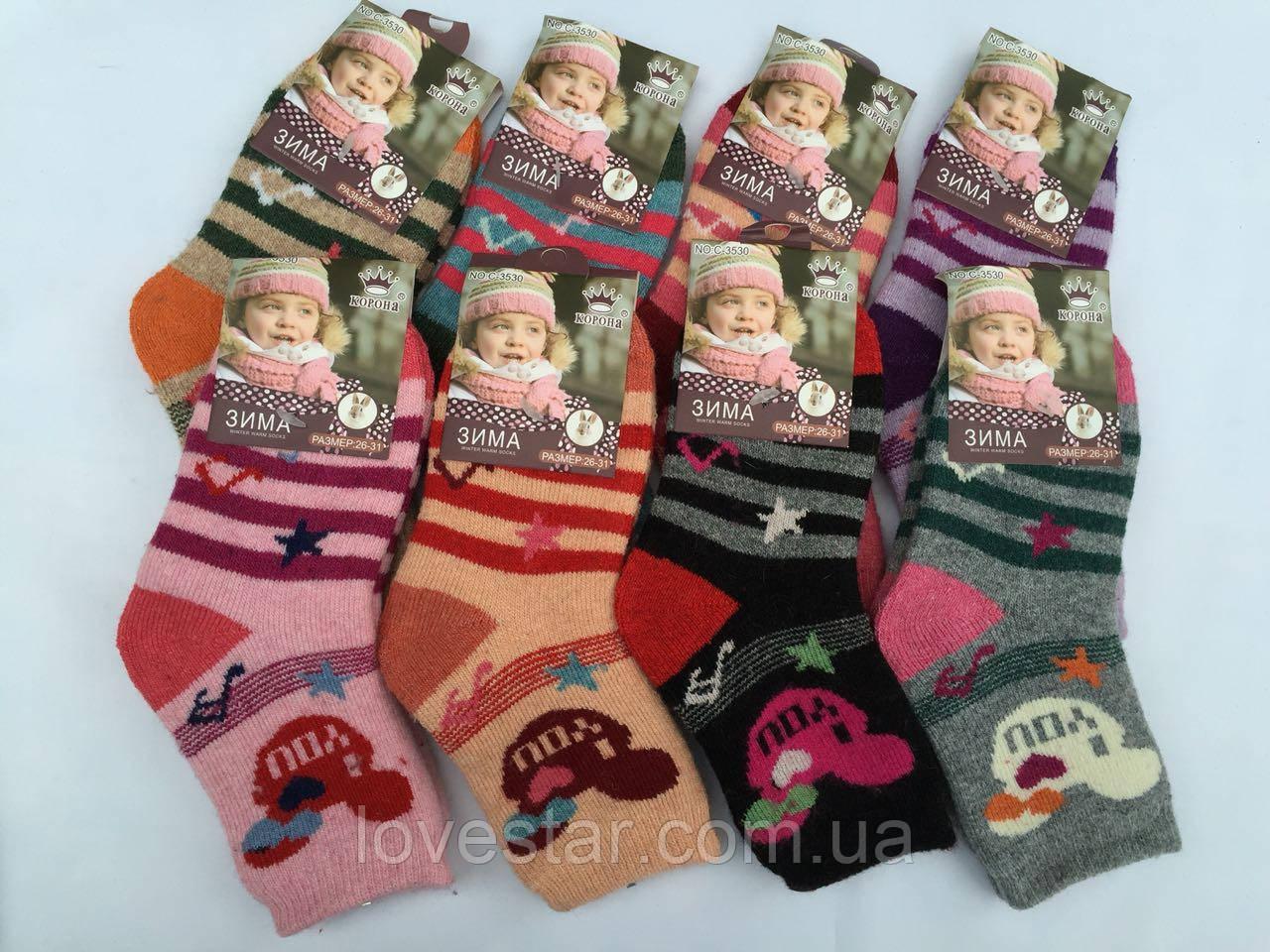 Вовняні шкарпетки Ангора корона 26-31 (C3533)