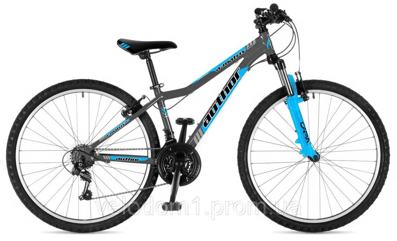 "Велосипед Author 26"" A-Matrix серо-син 13,5"" (2018)"