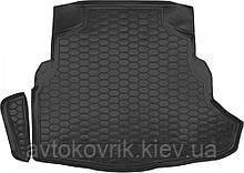 """Пластиковый коврик в багажник Mercedes C-Class (W205) 2014- седан (с """"ухом"""") (AVTO-GUMM)"""