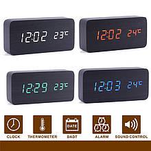 Электронные часы с термометром и будильником