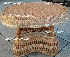 Плетеные столы из лозы в гостинную