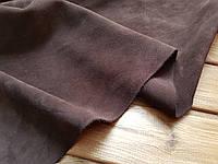 Кожа натуральная Велюр т.1,4-1,6мм цвет коричневый