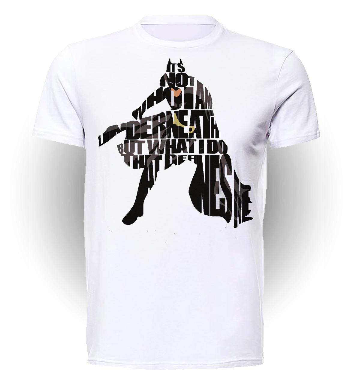 Футболка GeekLand Бэтмен Batman words BM.01.093