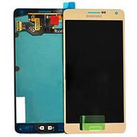 Дисплей модуль Samsung A700F Galaxy A7 A700 #GH97-16922F в зборі з тачскріном, золотистий