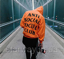 Толстовка в стиле Anti social social club Paranoid Undefeated assc   худи асск