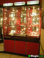 Витрины ювелирные под заказ, торговая мебель изготовить