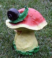 "Садовая фигура ""Улитка на грибе"" H-30см, фото 1"