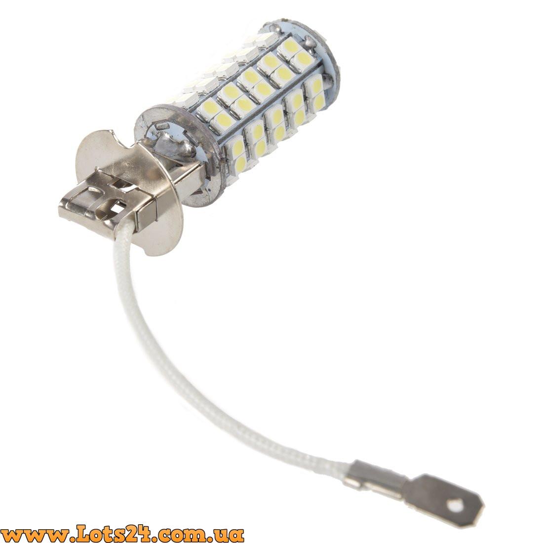 авто лампы H3 68 Led 5000k светодиодные лампочки для авто лучше за