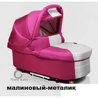 Универсальная коляска для двойни 2 в 1 Trans Baby Jumper Duo малина+металик 74/16