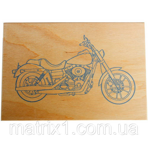 """Дощечка для выжигания """"Мотоцикл"""" А5"""