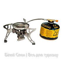 Пальник газовий складний зі шлангом та п'єзопідпалом Tramp TRG-012, фото 2