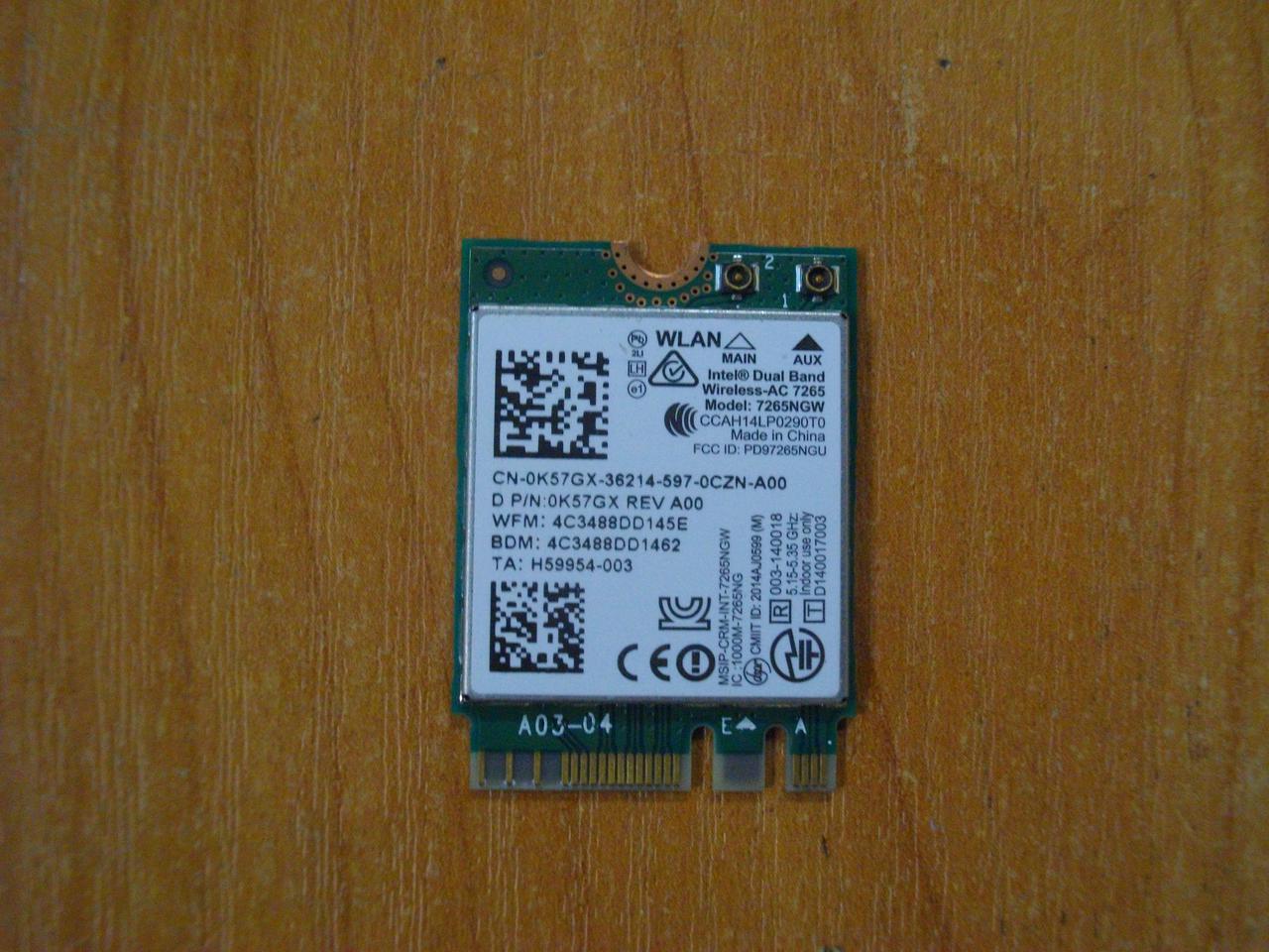 Плата WI-FI 7265NGW DELL Latitude 3150