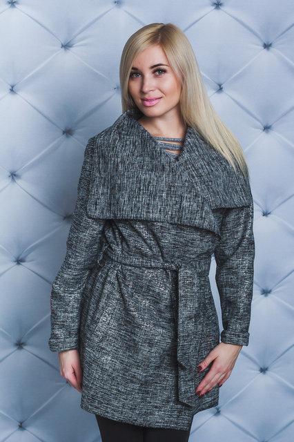 Шикарное пальто Меланж 44-54