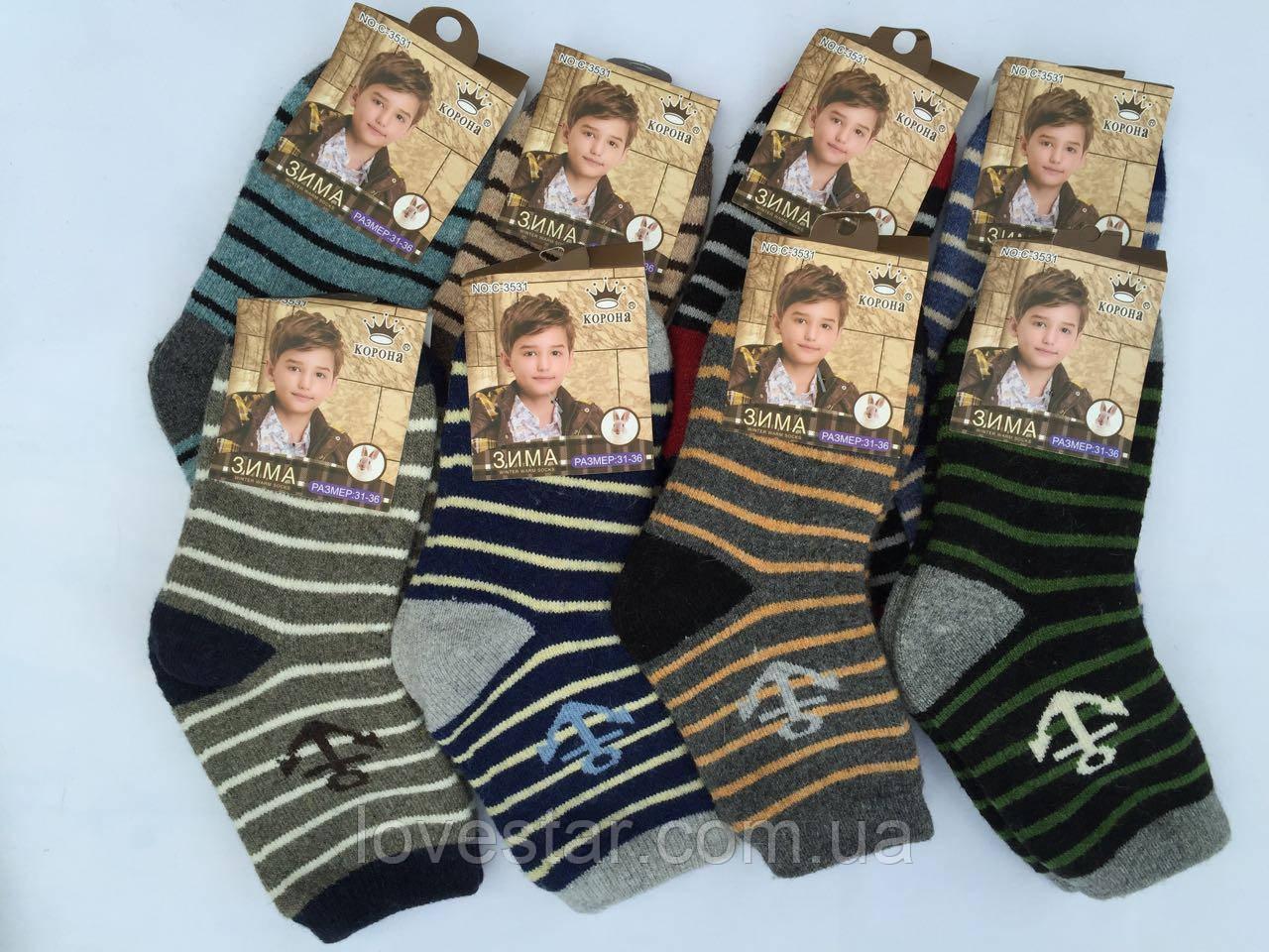 Вовняні шкарпетки Ангора корона 31-36 (C3528)