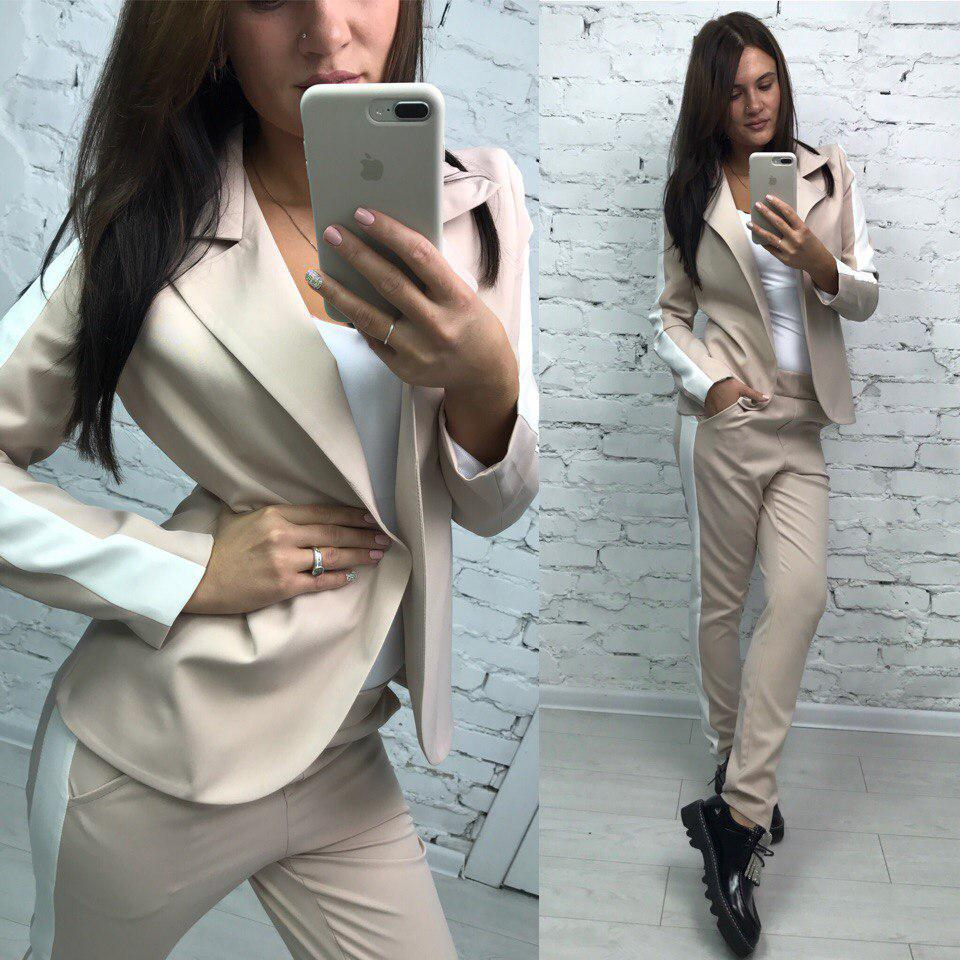 963ba2789d7 Женский классический костюм  пиджак и брюки в расцветках. МА-2-0917 ...