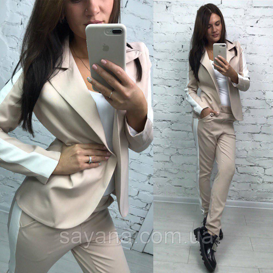 Женский классический костюм: пиджак и брюки в расцветках. МА-2-0917