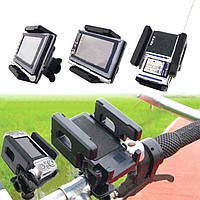 Держатель / кредл / подставка / крепление универсальное для телефона (ширина ≤ 11.5 см) поворотное на велоруль