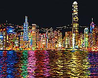 Набор для алмазной мозаики: Ночной Нью-Йорк, 40 × 50, GF536