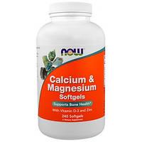 Now Foods, Комплекс кальцію і магнію, 240 гельових капсул