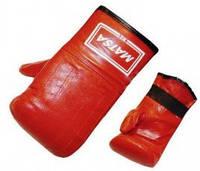 Снарядные перчатки Кожа ZEL MA-0036-B(XL) (р-р XL, синий)