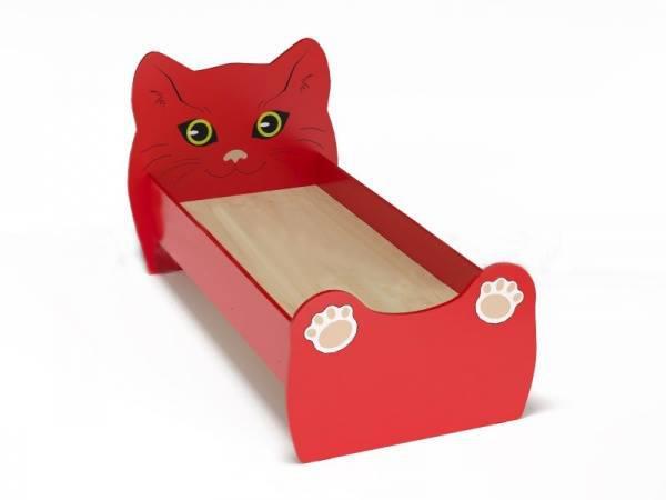Кровать детская ЛДСП Котенок с рисунком. W46