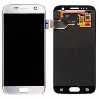 Дисплей модуль Samsung G930F Galaxy S7 в зборі з тачскріном, білий