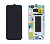 Дисплей Samsung G950F Galaxy S8 модуль в сборе с тачскрином, голубой, с рамкой